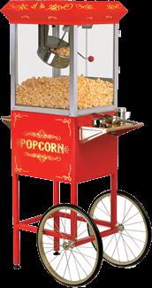 Retro Popcorn Cart